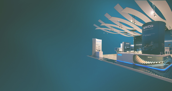 Dayco, International Exhibitions  - Movement is the core of the exhibition concept.